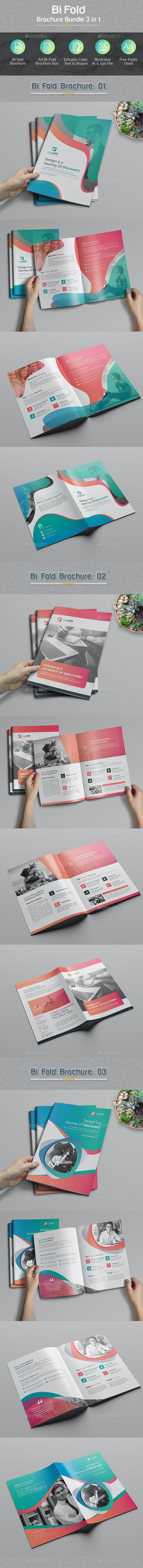 Bi-fold Brochure Bundle 3 in 1 - Corporate Brochures