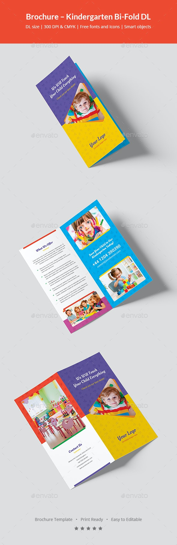 Brochure – Kindergarten Bi-Fold DL - Informational Brochures