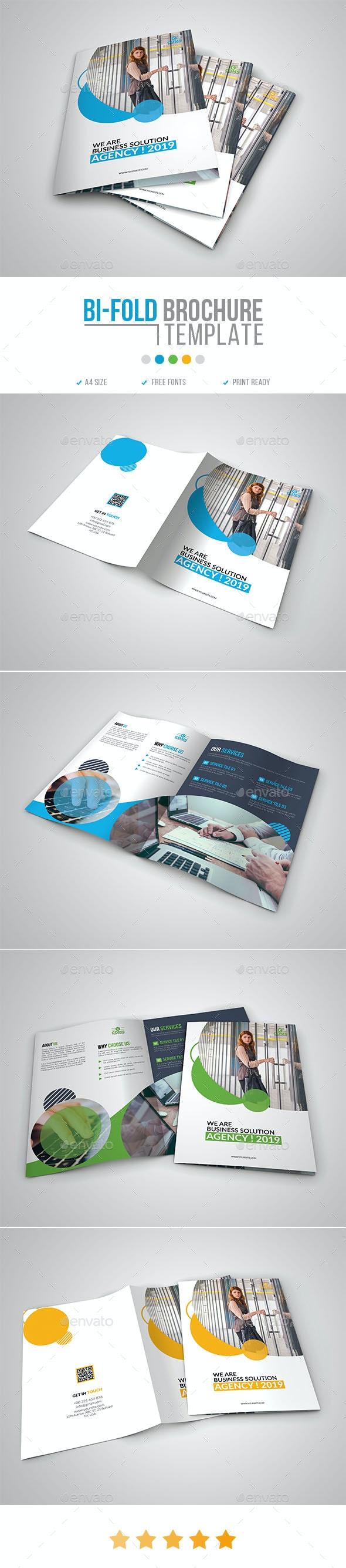 Corporate Bi-Fold Brochure Template 12 - Corporate Brochures