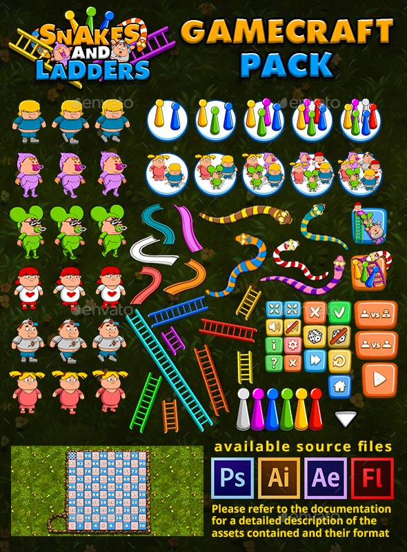 Snakes and Ladders - Game Assets - Game Kits Game Assets