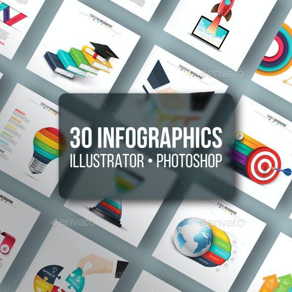 Unique infographics pack