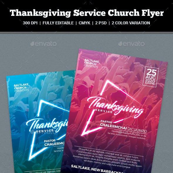 Thanksgiving Service Church Flyer