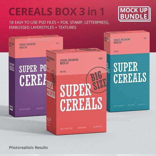 Cereals Box Mockup Bundle