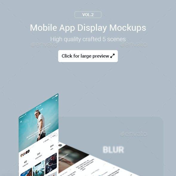 Mobile App Display Mockups Vol.2