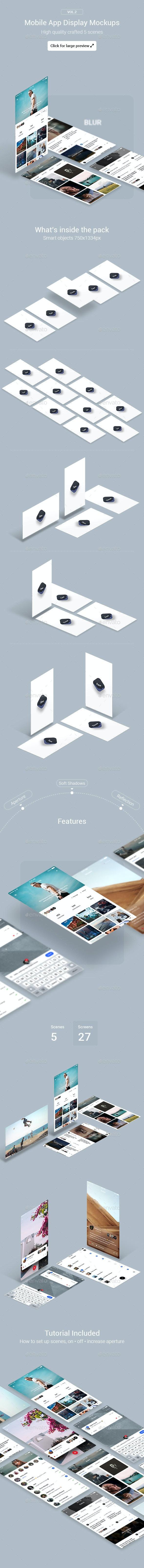 Mobile App Display Mockups Vol.2 - Mobile Displays