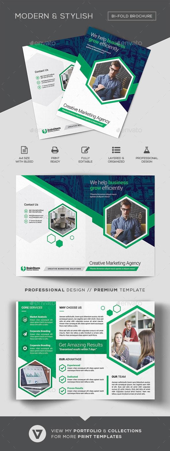 Bi-Fold Brochure Template - Corporate Brochures
