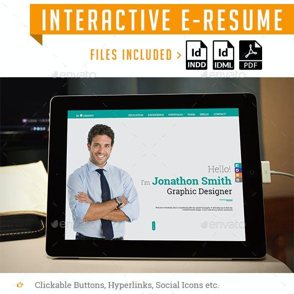 Interactive E-Resume