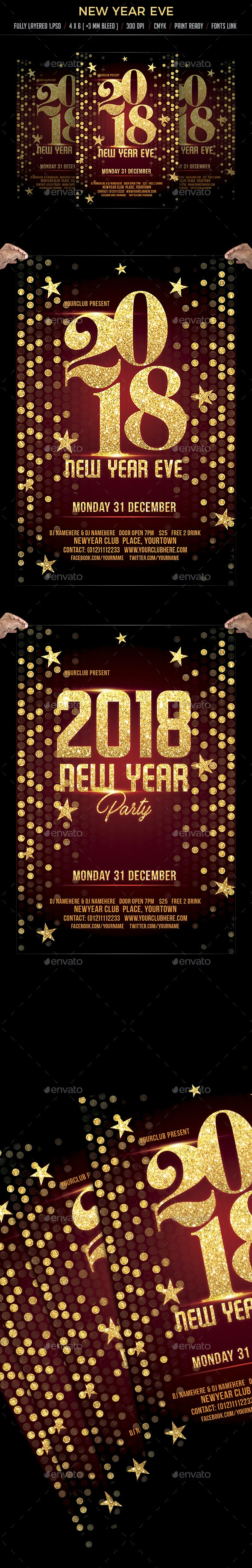 New Year Eve Flyer Template - Flyers Print Templates