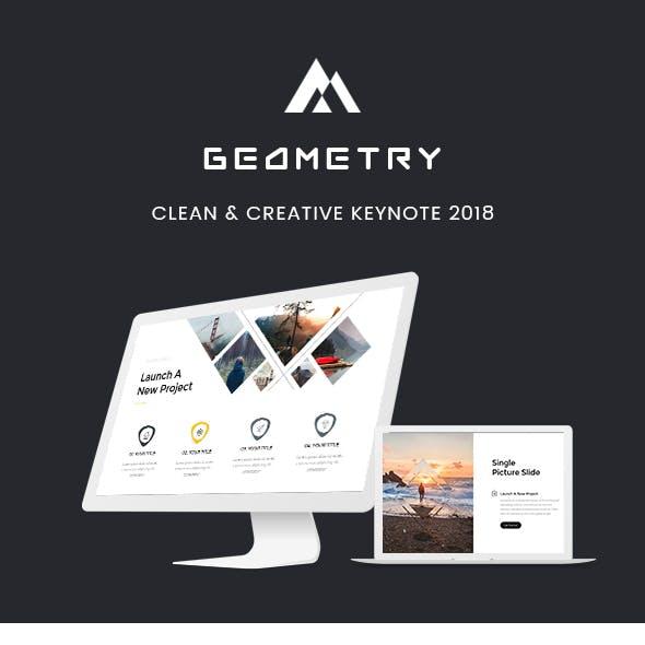 Geometry - Clean & Creative Keynote Template 2018