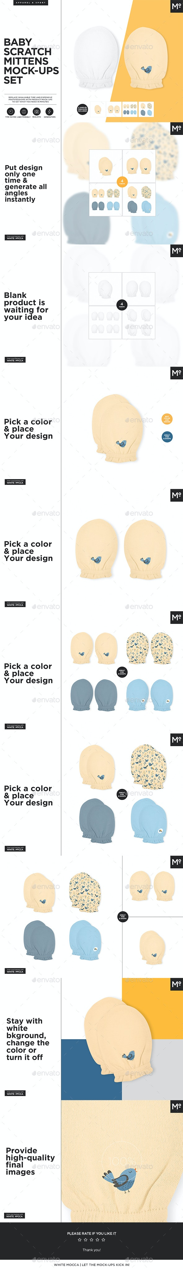 Baby Scratch Mittens Mock-ups Generator - Miscellaneous Apparel