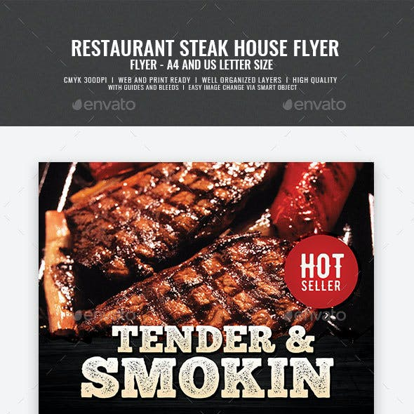 Grill House Promotional Flyer