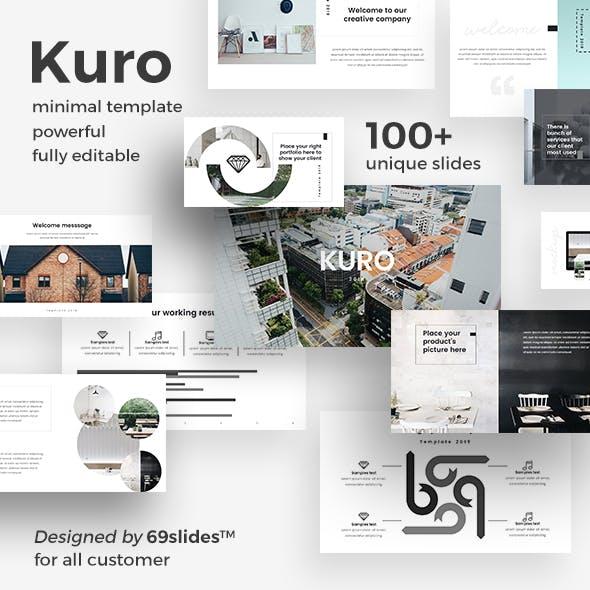 Kuro Minimal Google Slide Template