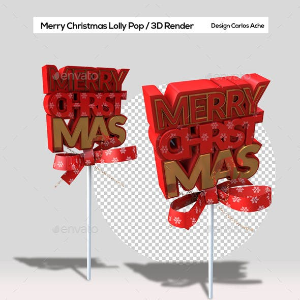 Merry Christmas Lolly Pop