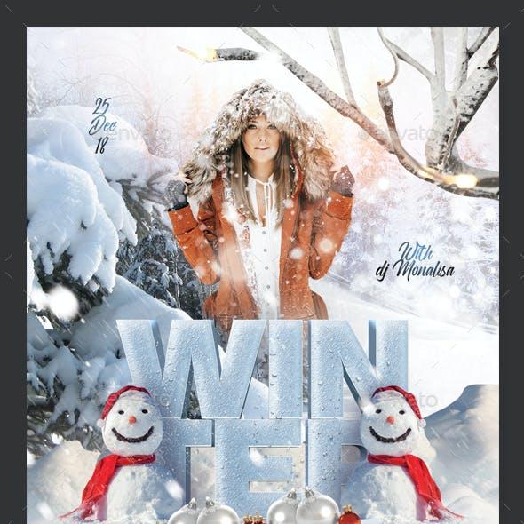 Winter Christmas Celebration Flyer