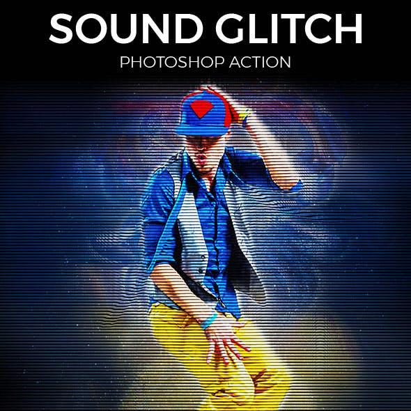 Sound Glitch Photoshop Action