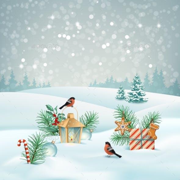 Vector Christmas Landscape