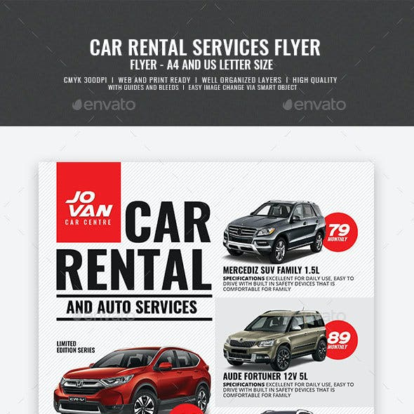 Car Rental and Services Flyer