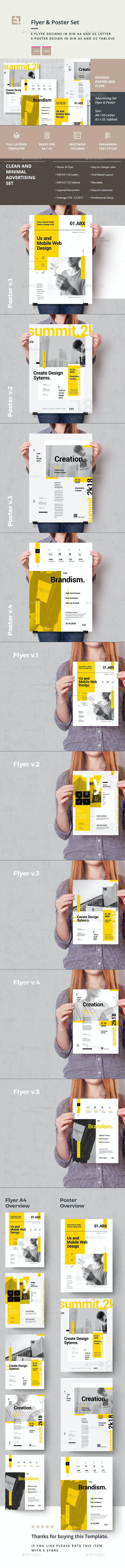 Advertising Poster and Flyer Set - Corporate Flyers