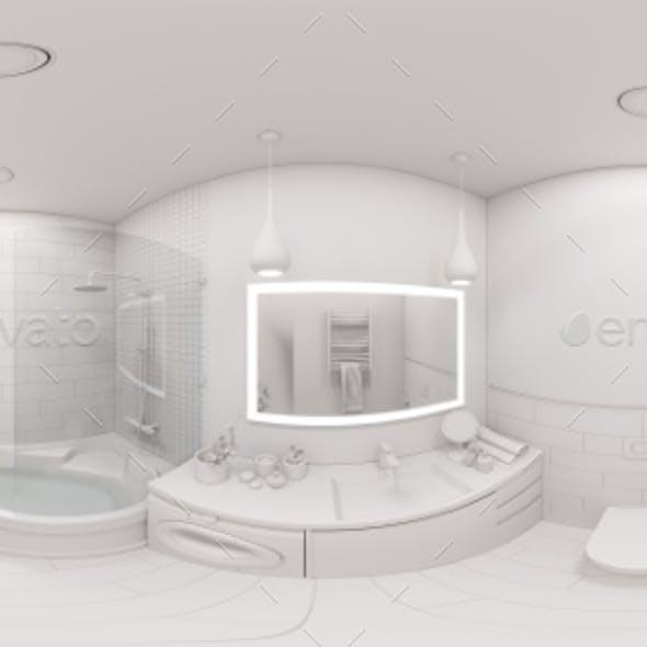 3d Illustration Spherical 360 Degrees, Seamless