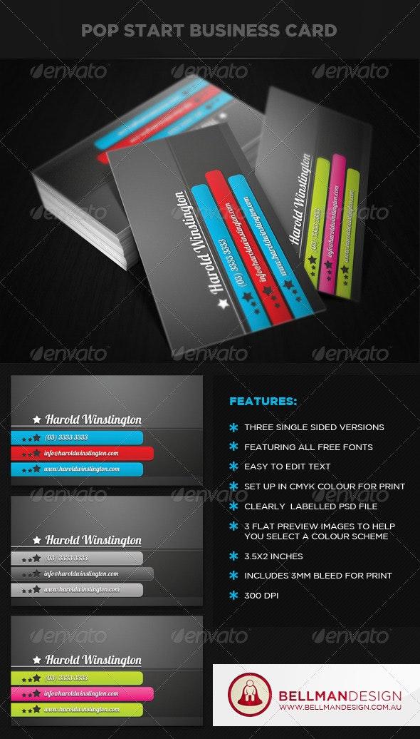 Pop Start Business Card - Creative Business Cards