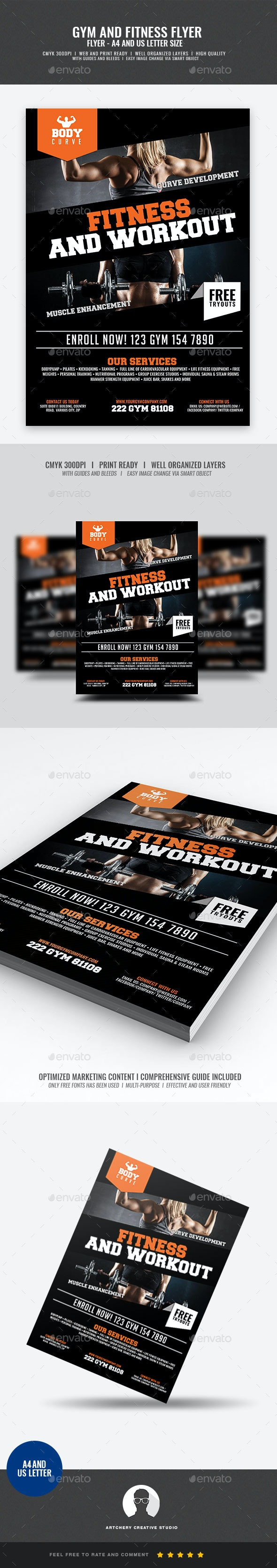 Fitness and Workout Flyer - Sports Events
