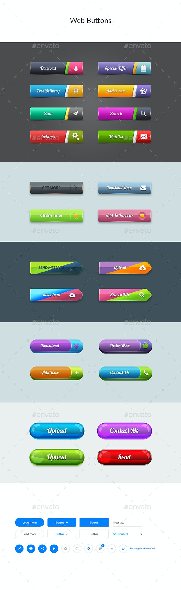 Web Buttons - Buttons Web Elements