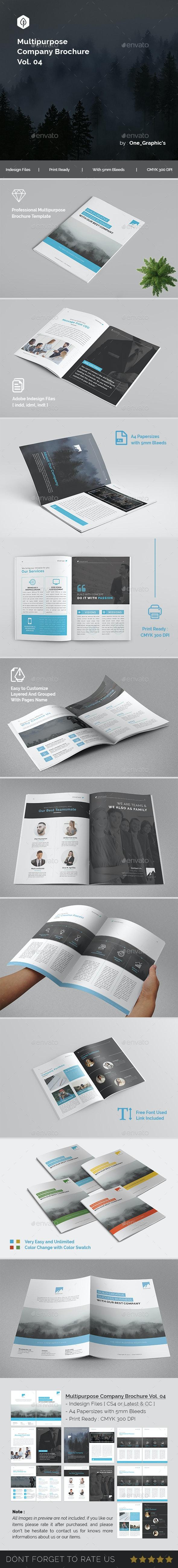 Multipurpose Corporate Brochure Template Vol. 04 - Brochures Print Templates