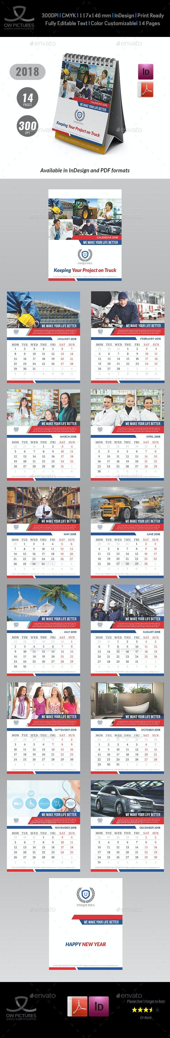 Calendar 2018 - Calendars Stationery