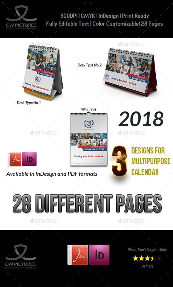Calendar 2018 Bundle - Calendars Stationery