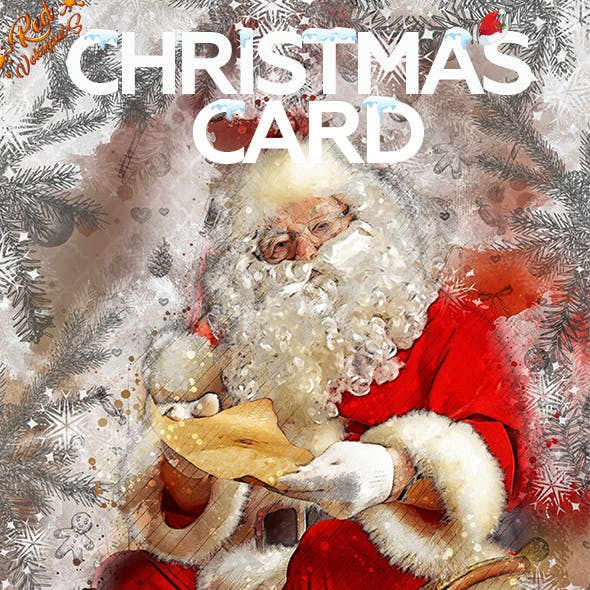 Christmas Card Photoshop Action