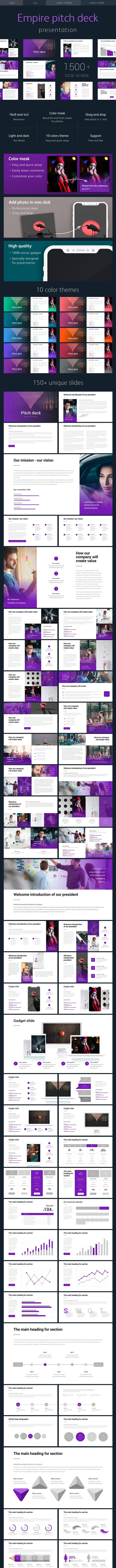Pitch Deck Empire Powerpoint Template - Pitch Deck PowerPoint Templates