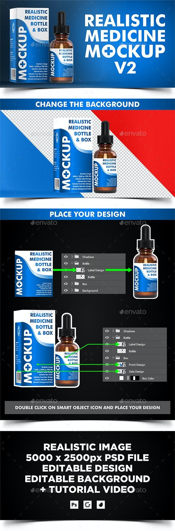 Dropper Bottle ( Medicine Mockup v2 ) - Miscellaneous Packaging