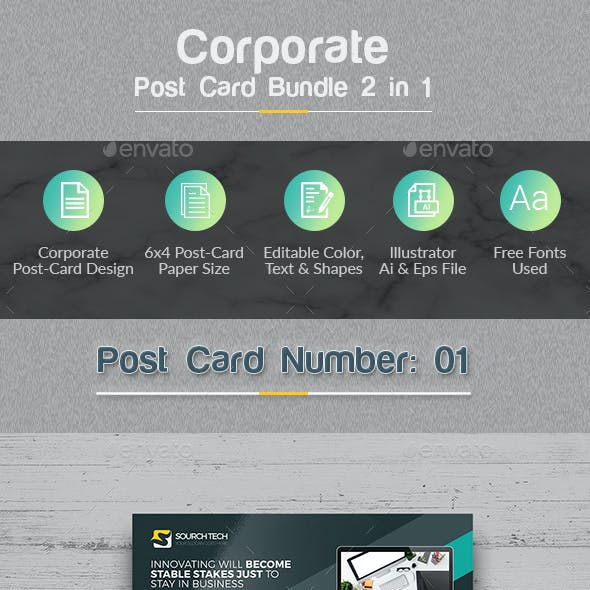 Post-Card Bundle 2 in 1