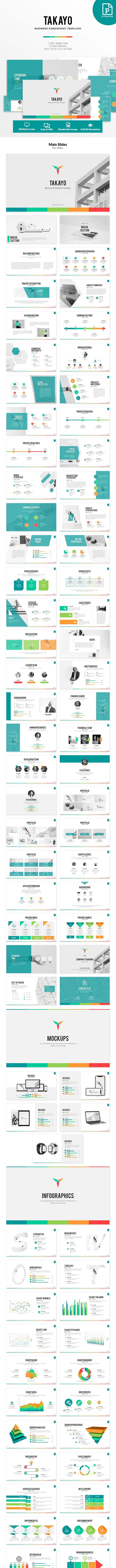 Takayo - Business PowerPoint Template - Business PowerPoint Templates