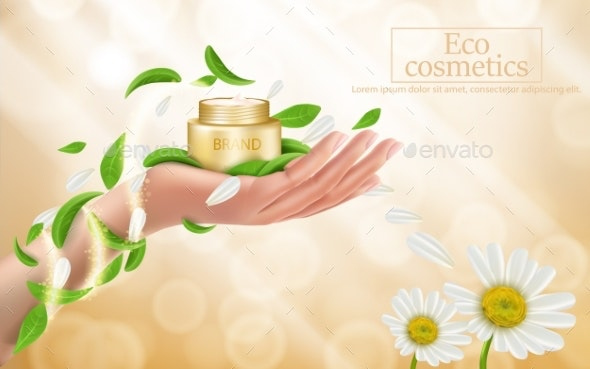 Advertising Poster of a Moisturizing Cosmetic - Backgrounds Decorative