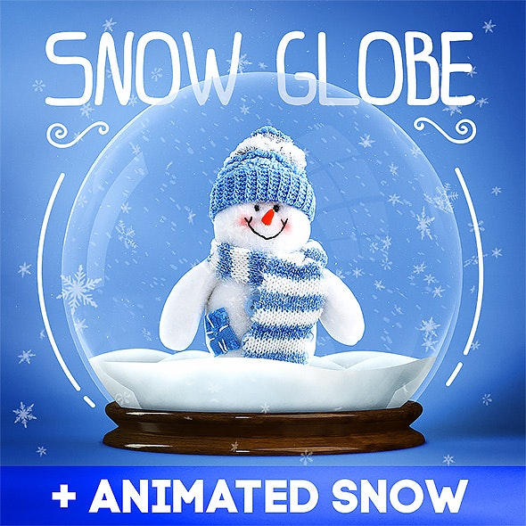 Snow Globe + Animated Snow - Photo Effects Actions