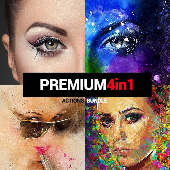 Premium - 4in1 Photoshop Actions Bundle
