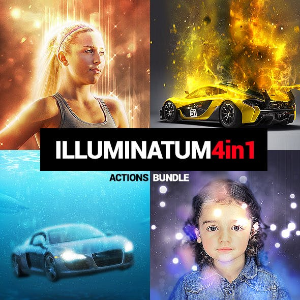 4in1 Bundle - Illuminatum - Photoshop Actions