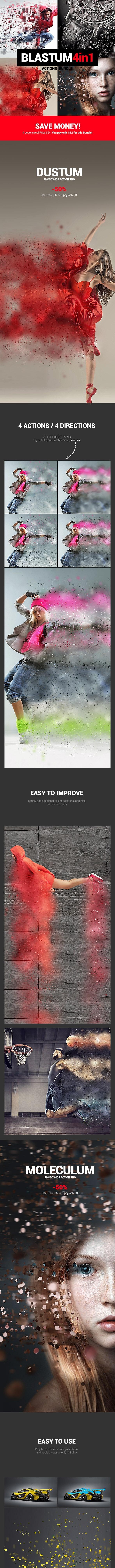 4in1 Bundle - Blastum - Photoshop Actions - Photo Effects Actions