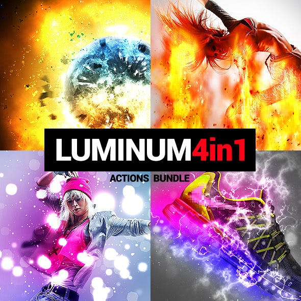 4in1 Bundle - Luminum - Photoshop Actions
