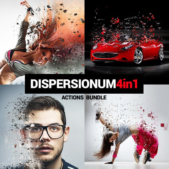 Dispersionum - 4in1 Photoshop Actions Bundle