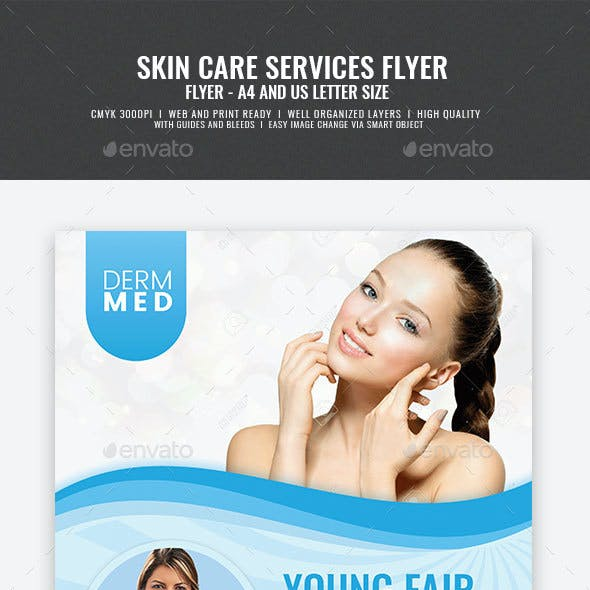 Skin Care Services Flyer