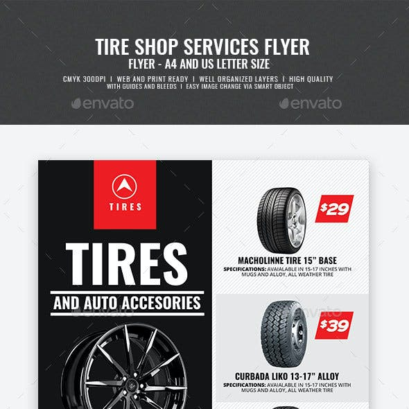 Tire Shop and Accessories Flyer