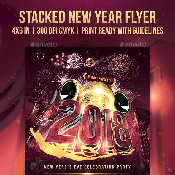 Stacked New Year Flyer