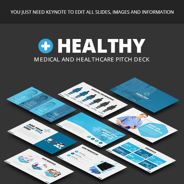 Healthy - Medical and Healthcare Keynote Pitch Deck