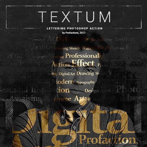 Textum - Lettering Photoshop Action