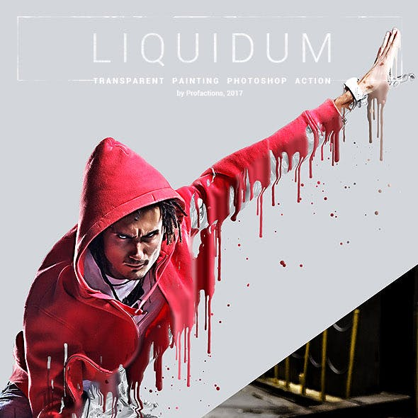 Liquidum - Transparent Painting Photoshop Action