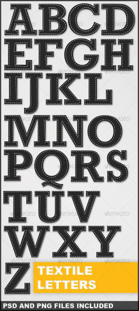 Textile Letters - Miscellaneous Graphics