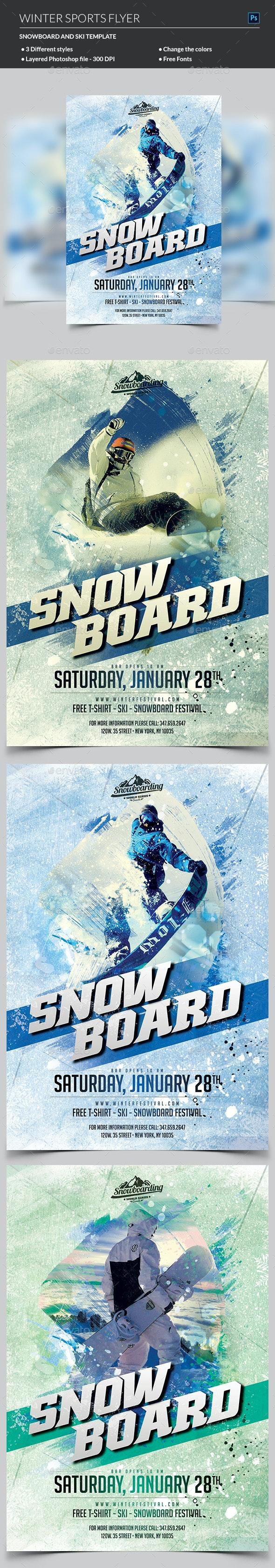 Winter Sport Flyer - Sports Events