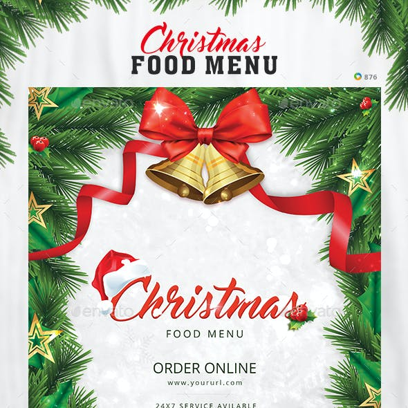 Christmas Food Menu Design Template